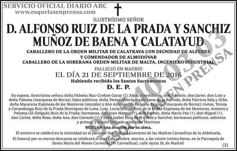 Alfonso Ruiz de la Prada y Sanchiz Muñoz de Baena y Calatayud